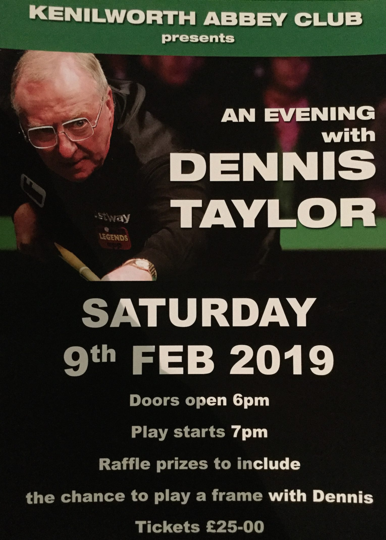 Contact the Kenilworth Abbey Club