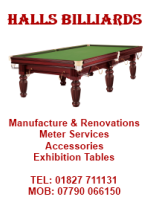 Halls Billiards, Manufacturers and Renovators, Accessories - Bagatelle & Pool, Exhibition Tables Supplied